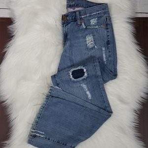 American Eagle Hipster Boot Patch Jeans